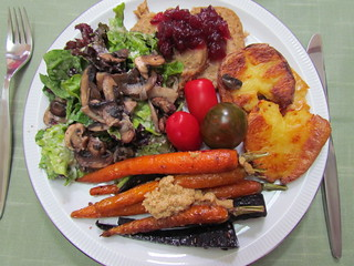 Christmas lunch plate