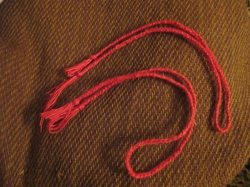 Medieval textile purse - 14