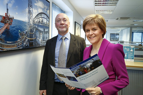 First Minister Nicola Sturgoen meeting with Sea Energy Aberdeen