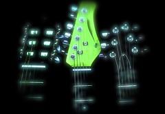 3 Guitars with Haze and Blur