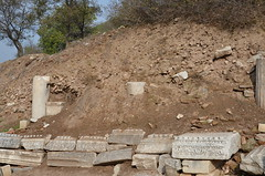 archaeology, ancient history, soil, rubble, geology, rock, archaeological site,
