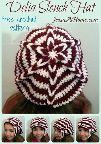 Delia Slouch Hat ~ Child to Adult Large ~ Free Crochet Pattern by Jessie At Home