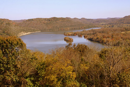 View of Cordell Hull Lake from Tater Knob