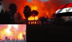 مقطع فيديو يصور احتراق قصر