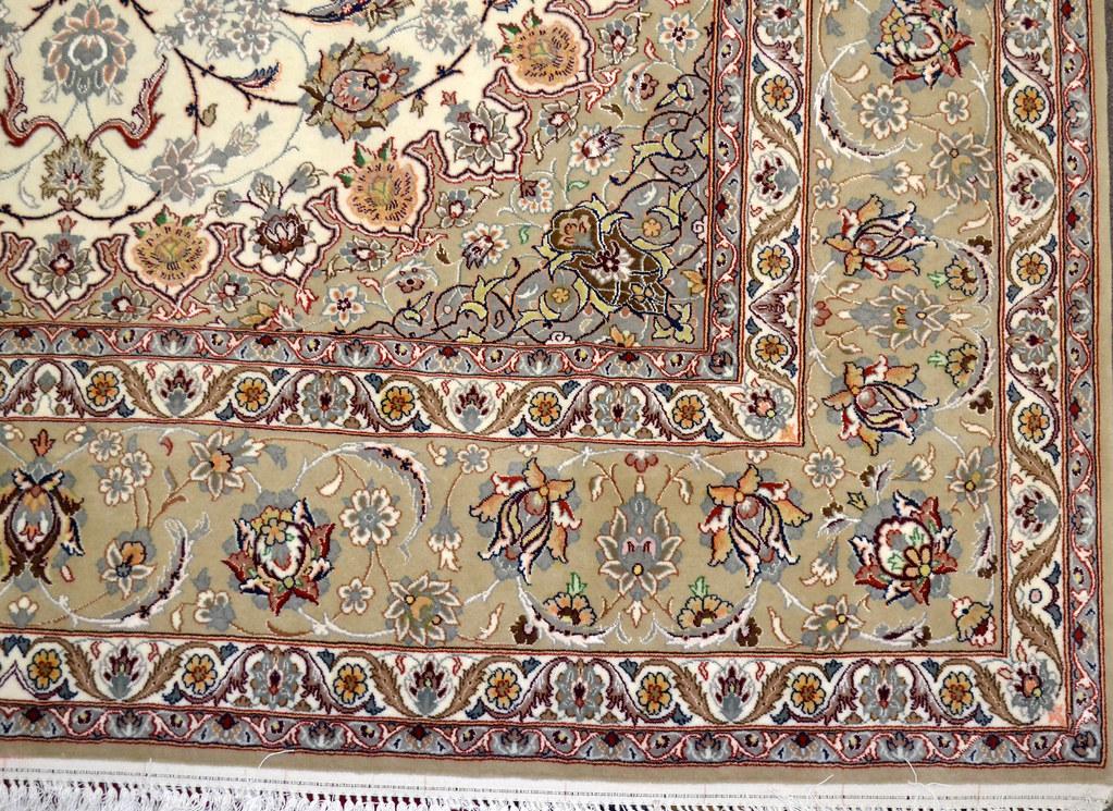 Isfahan Fine 7x10 persian Area Rug Earth Tone Color (8)
