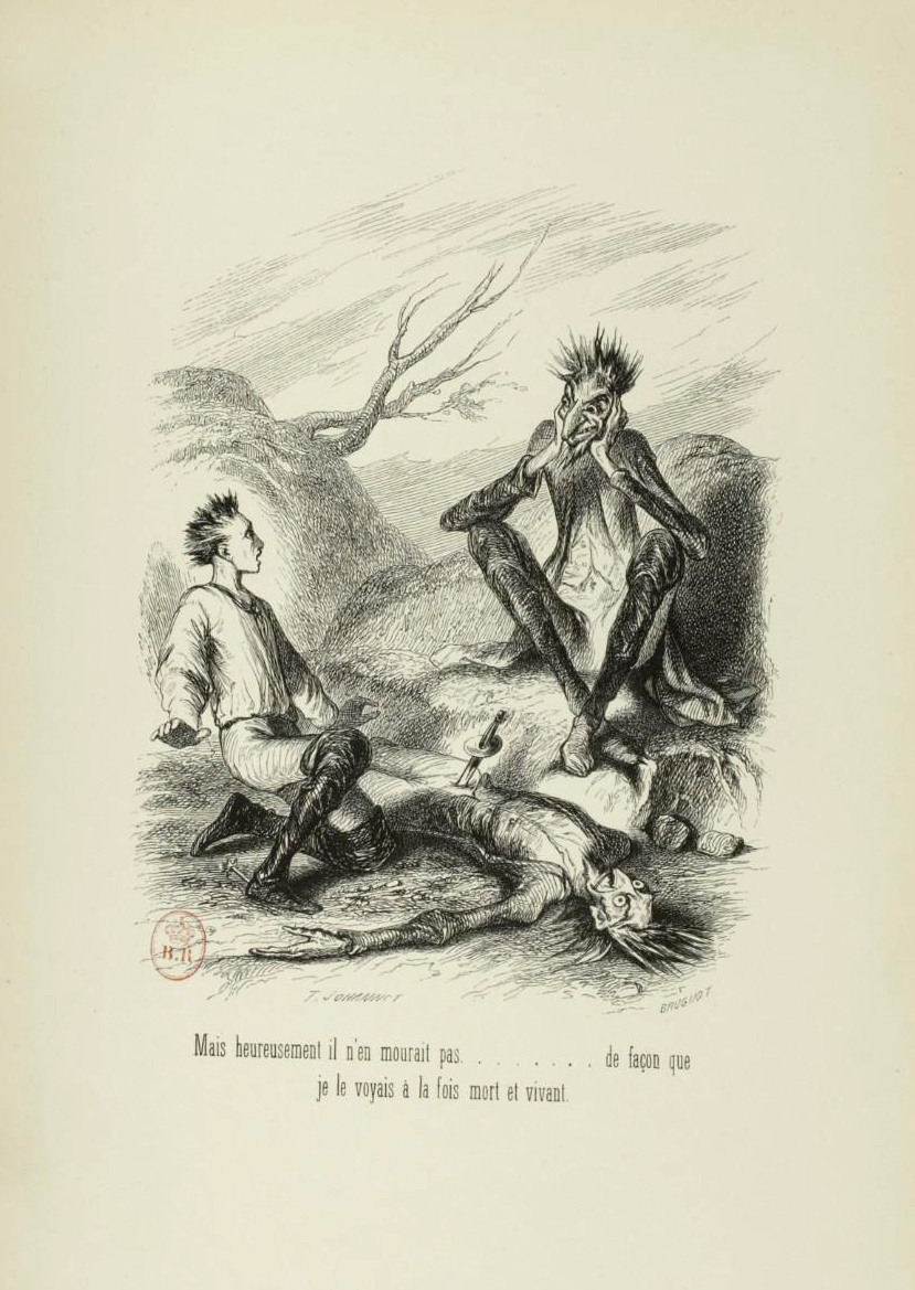"Tony Johannot - Illustration for ""Voyage où il vous plaira"" by Musset and Stahl (1843) 16"