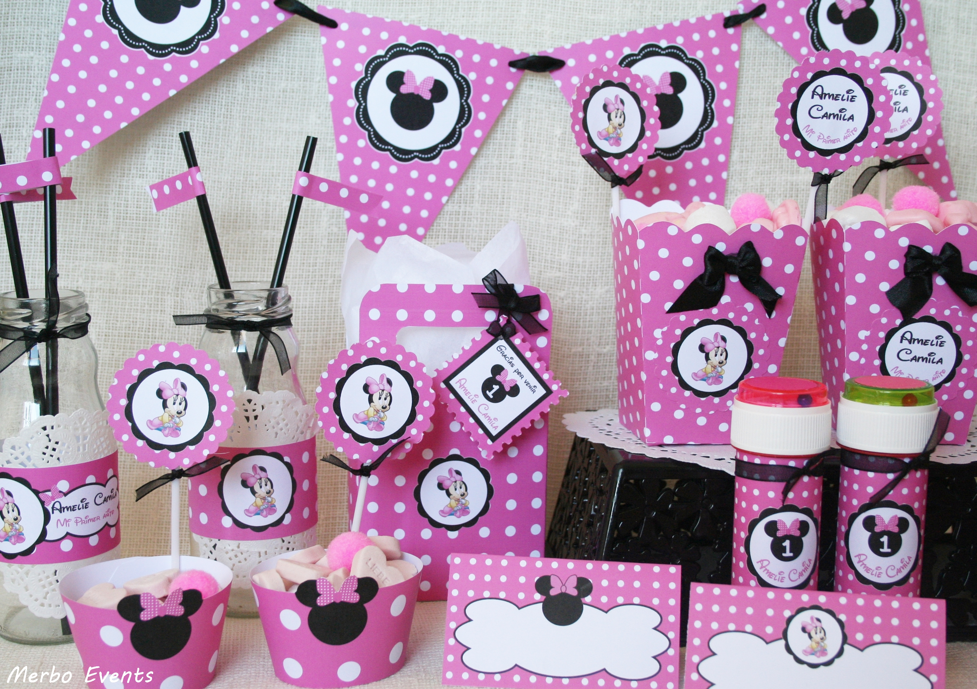 Cumplea os minnie mouse - Decoracion cumpleanos bebe ...