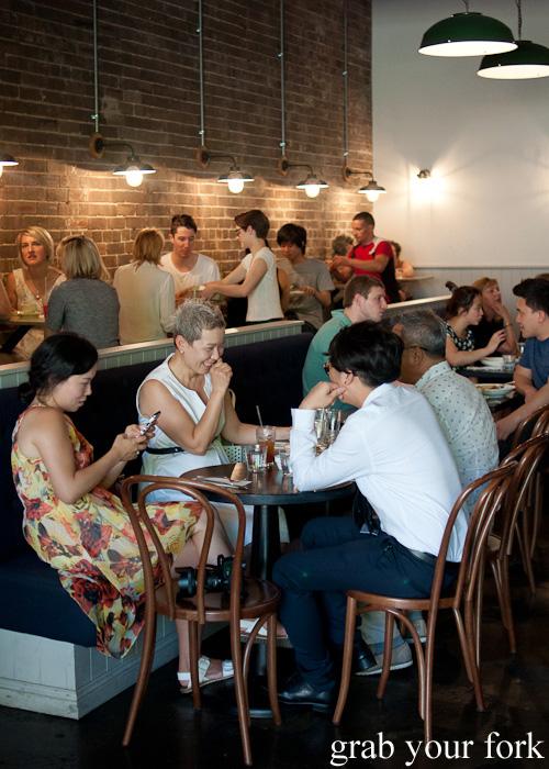 Diners inside Brewtown Newtown