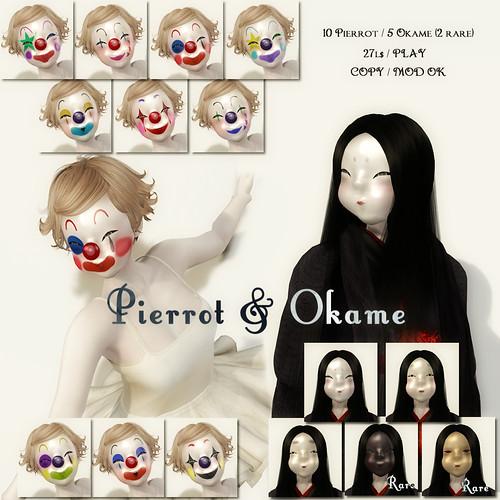 *N*Pierrot & Okame Mask Gacha