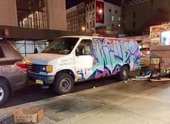 Lower Manhattan bombed van