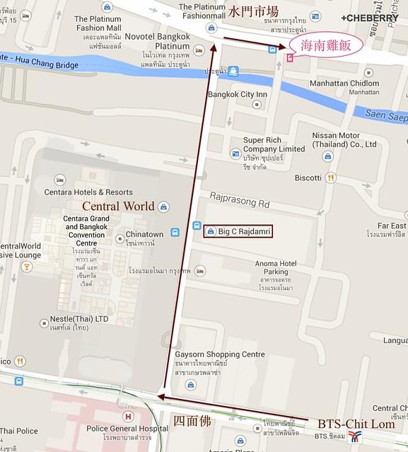 水門海南雞飯MAP