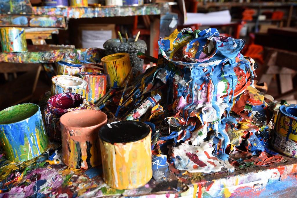 Oxcart Paint Scraps