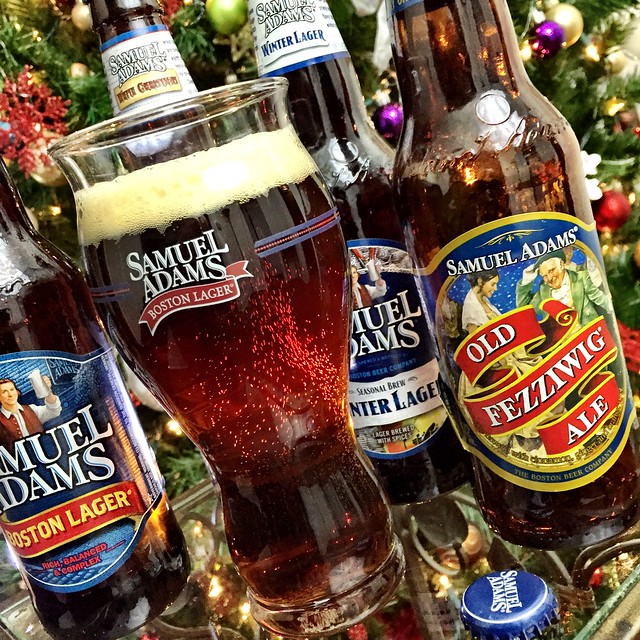 Christmas can now be officially celebrated! #OldFezziwig #SamAdamsBeer