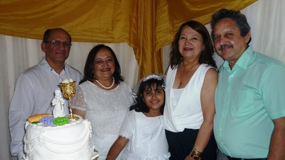 Carlos Martins, Emília Martins Diniz e Clarice Diniz, com Maria do Carmo Lima  e Everaldo Martins Filho