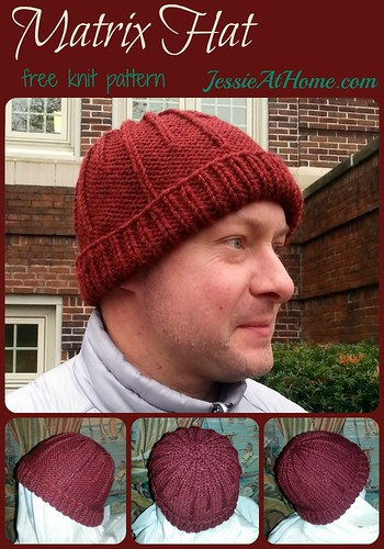 Matrix Hat by Jessie At Home ~ Free Knit Pattern