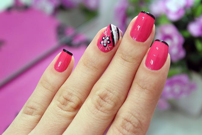 02-unhas decoradas nail art fácil e delicada com esmalte rosa camila coelho ync