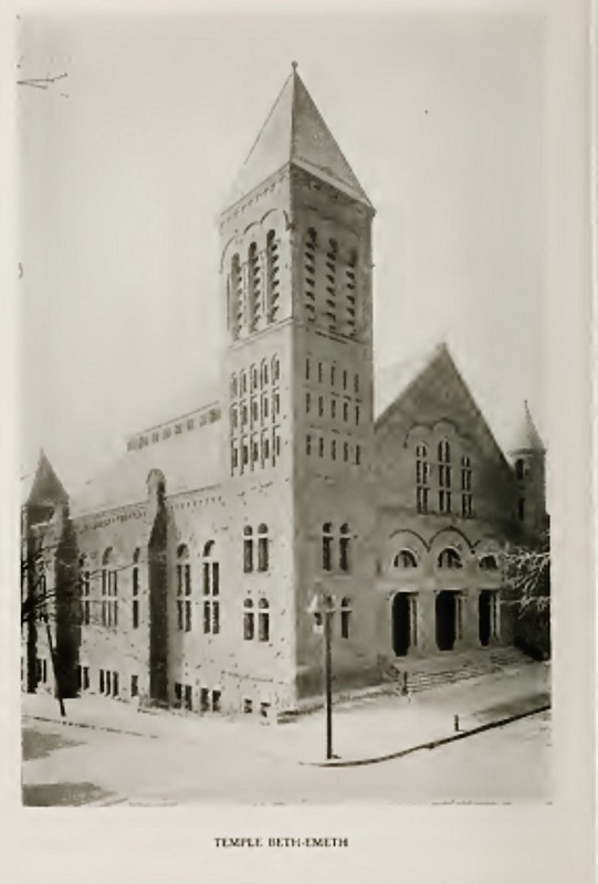 Temple beth Emeth Lancaster and jay  early 1900s  albany ny