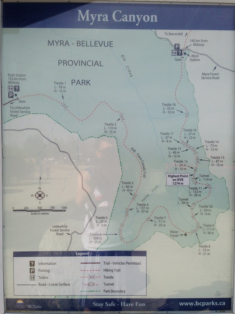 Myra Canyon map