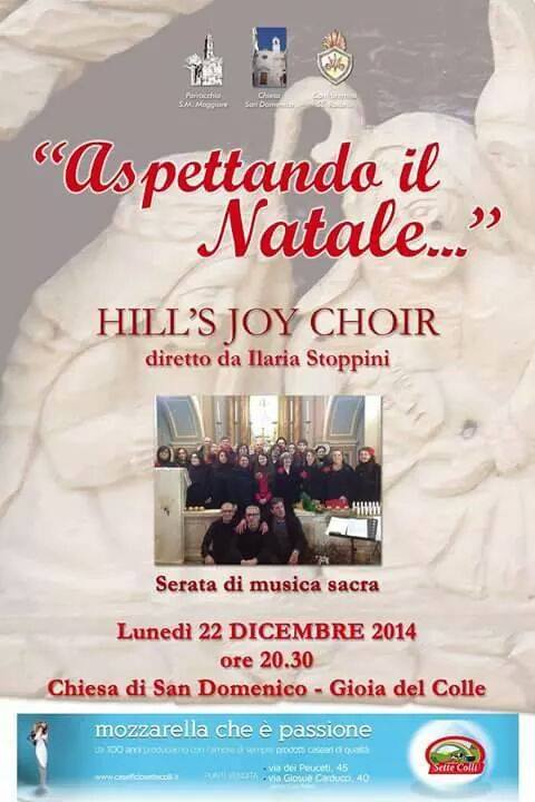 concerto di natale con hill's joy choir