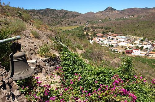 Santiago del Teide seen from shrine of Nuestra Señora de Lourdes