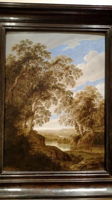 Alexander Keirincx - Wooded River Landscape with Deer - c 1643 - Flemish