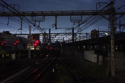 Omiya_10 埼玉県さいたま市JR大宮駅で撮影した鉄道写真。 日没間際。