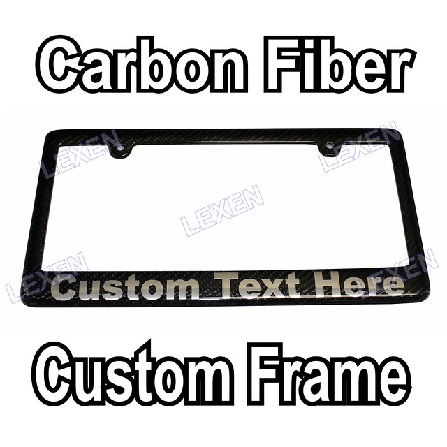 Custom Printed 100 Hand Made Carbon Fiber License Plate