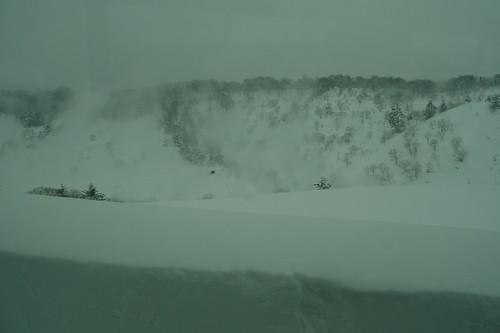玉川温泉の湯けむり