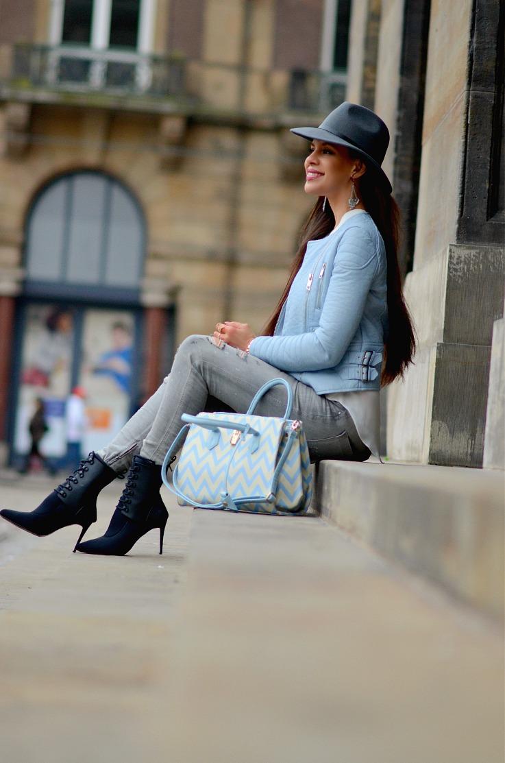 DSC_0972 Pomikaki Bag, Baby Blue4 zara Moto Jacket, Myca Couture, Alexander Wang x H&M booties, Tamara Chloé