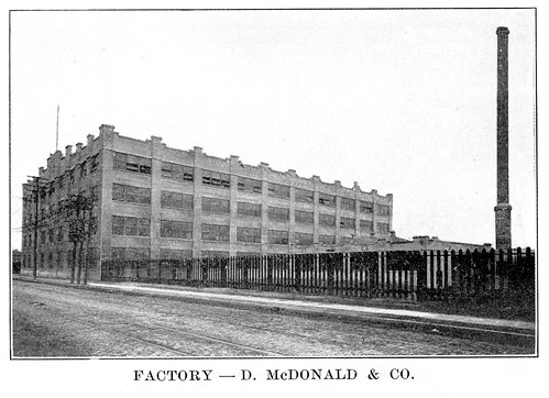 factory d mcdonald & co 1909