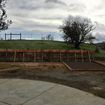 Foundation With Retaining Wall Formed In Winters