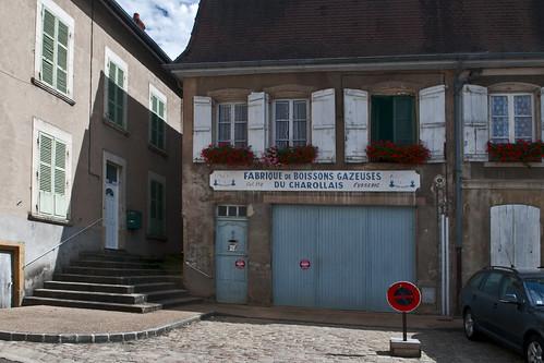Charrolles, Franrkijk, Bourgondië, regio Charrollais, limonadefabriek.  Fabrique de Boissons Gazeuses du Charrollais