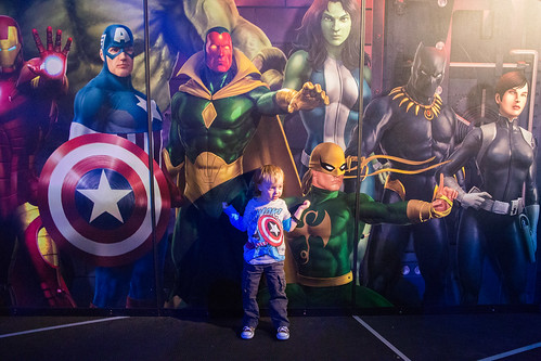 Toddler at The Marvel Experience in Dallas
