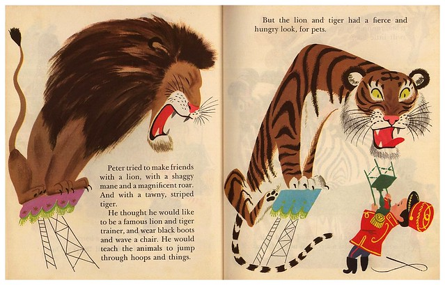 023-Pets for Peter – ilustrador Aurelius Battaglia - Copyright 1950- via goldengems.blogspot