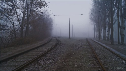 street city fog landscape artphotography