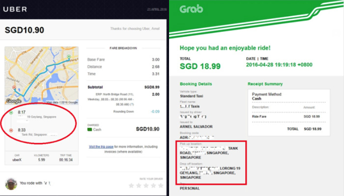 Estimate Uber Fare >> How to Use the Taxi Apps – GRAB Vs UBER