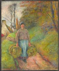 Peasant Woman Carrying Two Bundles of Hay (Paysanne portant deux bottes de foin)
