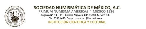 Sociedad Numismatica de Mexico letterhead