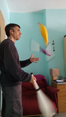 Juggling some clubs