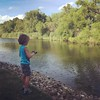 Jameson loved fishing at Aunt Carol and Uncle David's house with his cousins! Even if he only caught seaweed!