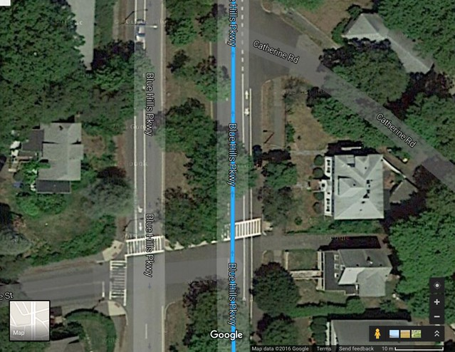 Blue Hills Parkway (@Blue Hills Terrace & North)