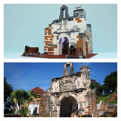 A Famosa is a fortress built by portugese at Melaka Malaysia In 14th century.