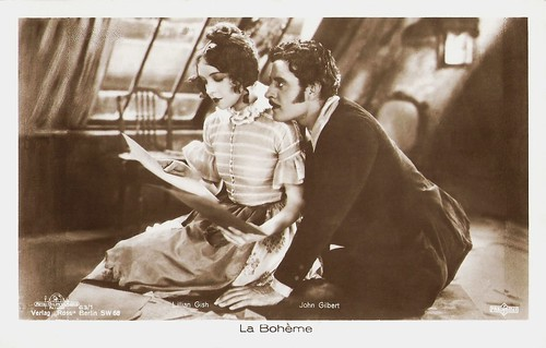 Lillian Gish and John Gilbert in La Bohème (1926)