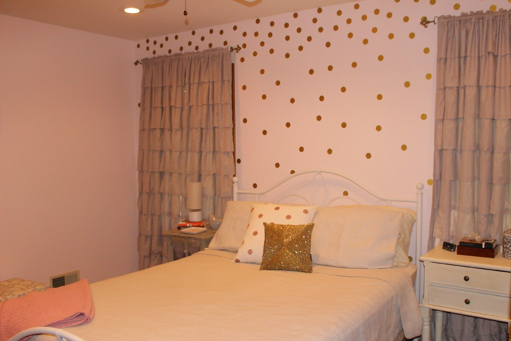 Bedroom Tour 1. Penniless Socialite  Look What I Got  Pink and Gold Bedroom