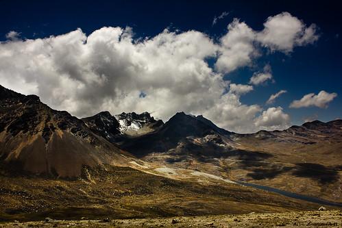 blue snow mountains clouds landscape shadows bolivia bluesky lapaz huaynapotosí canon550d