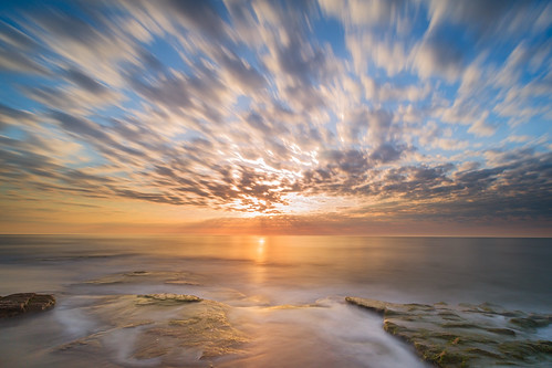 longexposure morning beach sunrise northcarolina wilmington ftfisher coquinarocks visitnc