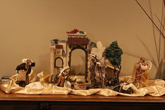 art, ancient history, miniature, nativity scene,