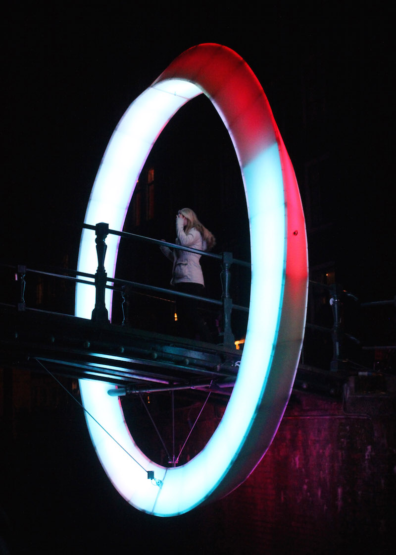 Amsterdam Light Festival 2014 Circle of Life Brouwersgracht