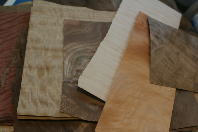 Two boxes of veneer