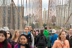 Brooklyn Bridge crowd